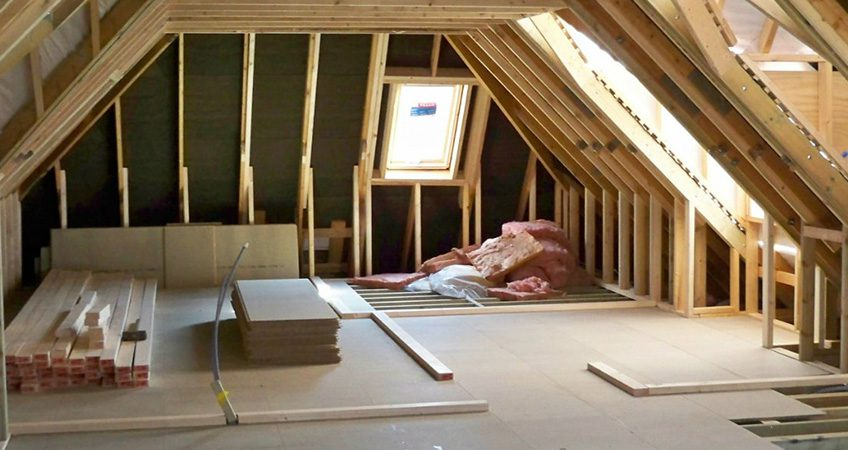 loft conversion design plan with wood